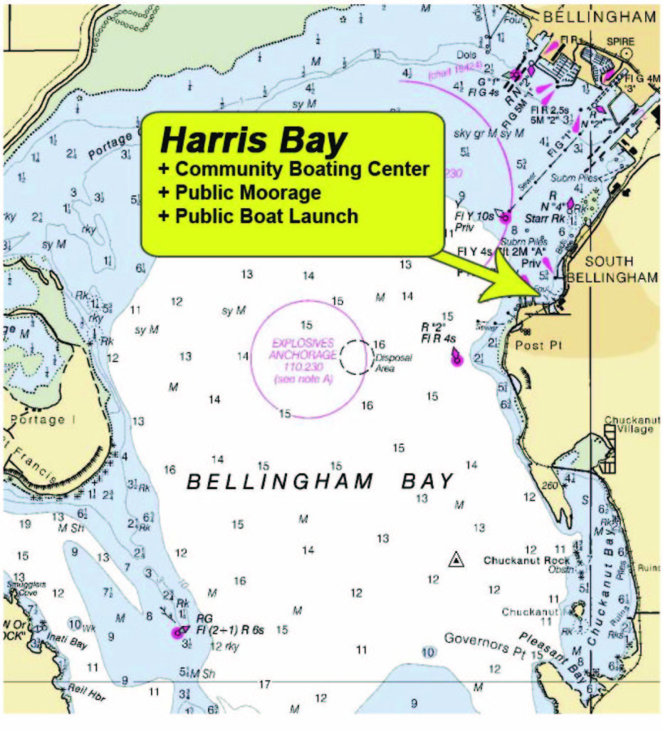 Map of Harris Bay